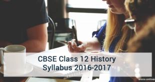CBSE Class 12 History Syllabus 2016-2017
