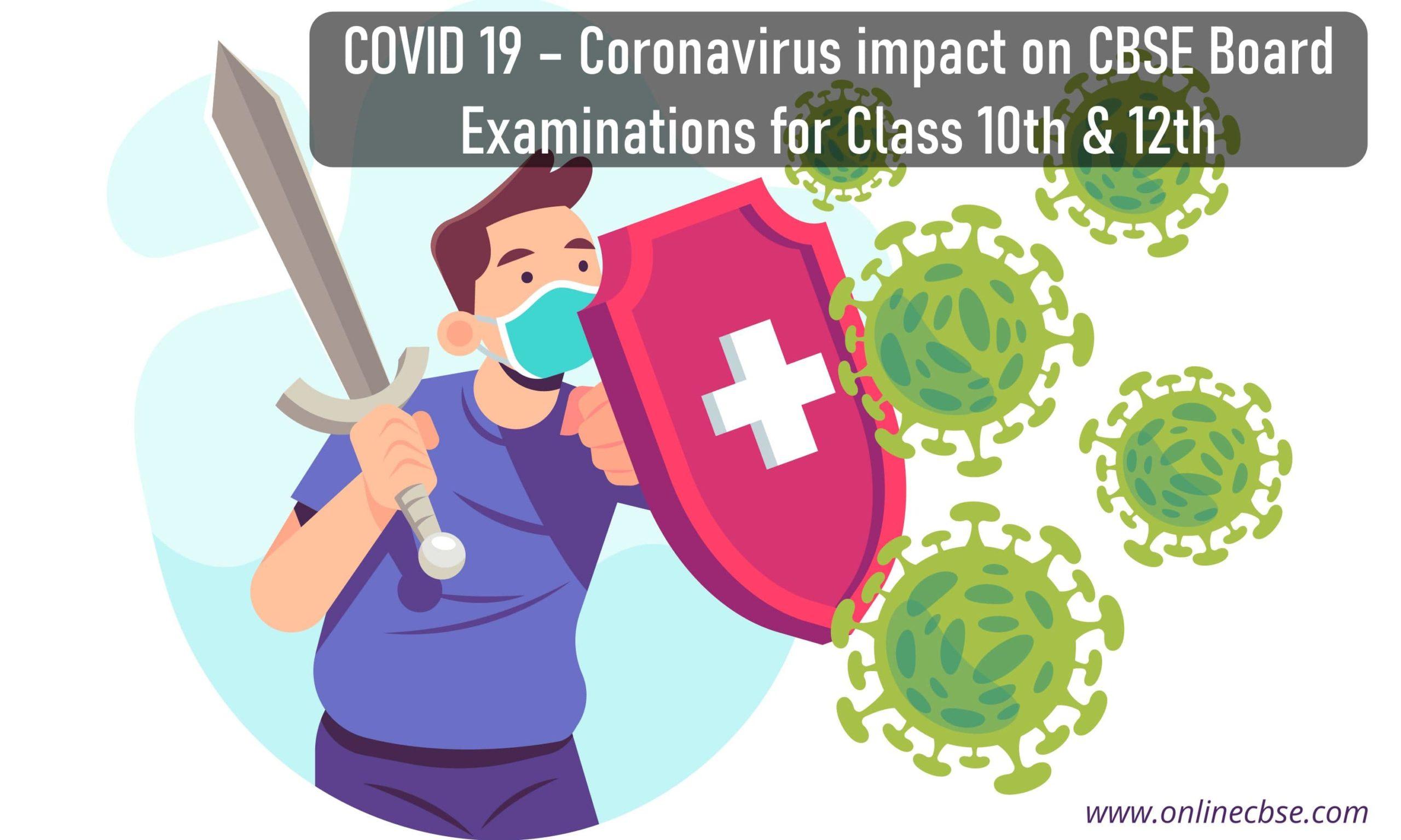 Coronavirus impact on CBSE Board Examinations for Class 10th & 12th